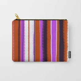 Rust and Purple Indian Blanket Design Carry-All Pouch