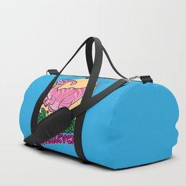 Moody Dinosaur (pink) Duffle Bag