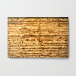 Grunge Rustic Wood pattern Metal Print