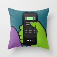 hulk Throw Pillows featuring hulk by mark ashkenazi