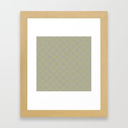 Simply Mod Diamond Mod Yellow on Retro Gray Framed Art Print