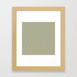 Simply Mod Diamond Mod Yellow on Retro Gray Framed Art Print