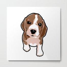 Geo Beagle Metal Print
