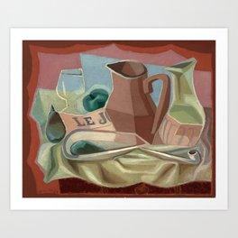 """Juan Gris """"Broc et carafe"""" Art Print"""