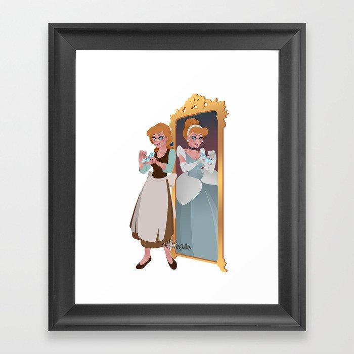 Cinderella - Peasant Servant Dress Framed Art Print by teohoble ...