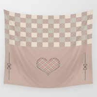 home sweet home Wall Tapestries featuring Home Sweet Home - 2 by Susann Mielke