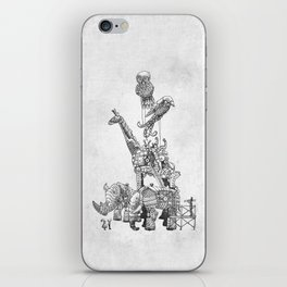 The Clockwork Menagerie (Silver) iPhone Skin