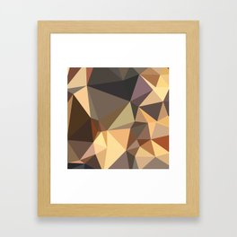 Bole Brown Abstract Low Polygon Background Framed Art Print