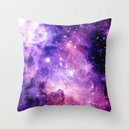 Galaxy Nebula Purple Pink : Carina Nebula Throw Pillow