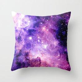 Galaxy Nebula Purple Pink : Carina Nebula Throw Pillow