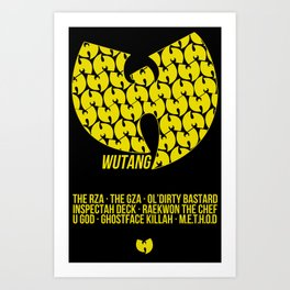 WU TANG CLAN Tribute Art Print