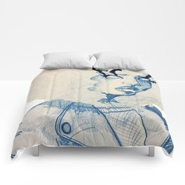 Smoking Barrels Comforters