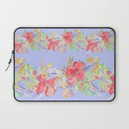 tropical hawaiian flowers periwinkle Laptop Sleeve