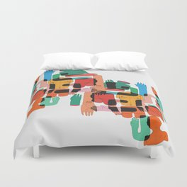 Color Body Patrs Duvet Cover