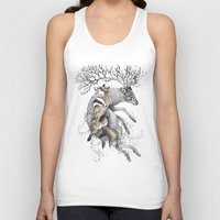 wildlife Tank Tops featuring protect our wildlife  by KatePowellArt