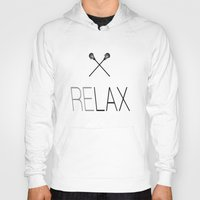 lacrosse Hoodies featuring Relax Lacrosse LAX by RexLambo