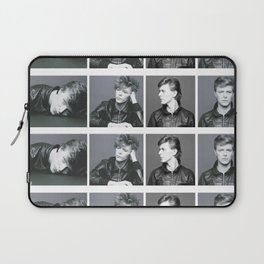 Monochrome Magnificence: Bowie Laptop Sleeve