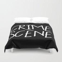 Crime Scene - Black White Duvet Cover