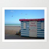 Brighton Beach in Spring Art Print