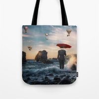 magritte Tote Bags featuring A la Magritte by Susann Mielke