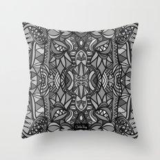 Roller Coaster Black and White Throw Pillow