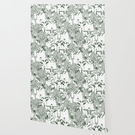 just goats dark green Wallpaper