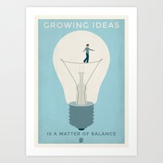 Growing ideas Art Print