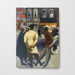 Harlem Sunday Morning African American Masterpiece by E. Burra Metal Print