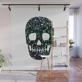 glitter skull Wall Mural