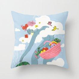 The Giantess Throw Pillow