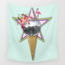 DISCO ICE CREAM Wall Tapestry