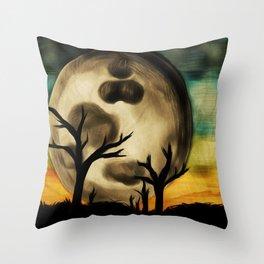 Moon Field Throw Pillow
