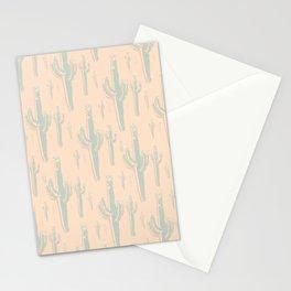 Peachy Arizona Saguaros Stationery Cards