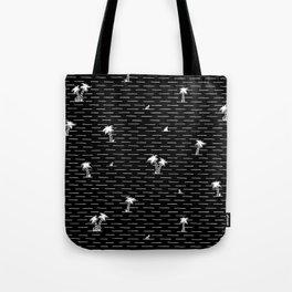 Palm Breeze Black Tote Bag