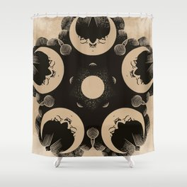 Ouija Wheel of the Moon - Beyond the Veil Shower Curtain