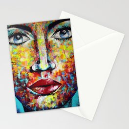 Blue eyes girl Stationery Cards