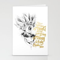 dragonball Stationery Cards featuring Dragonball Z - Strenth by Straife01
