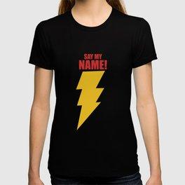Shazam (Say My Name!) DC Comics Fan Art T-shirt