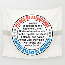 Pledge of Allegiance Wall Tapestry