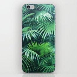 Tropical Botanic Jungle Garden Palm Leaf Green iPhone Skin