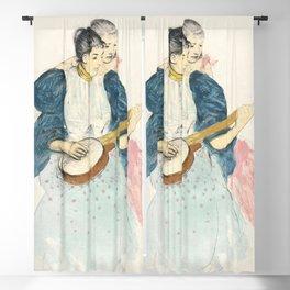 The Banjo Lesson (1893) by Mary Cassatt Blackout Curtain
