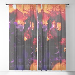 The Flame of Time Sheer Curtain