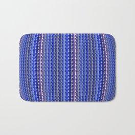 Mega Bright Indigo Lavender Blue Psychedelic Pattern Bath Mat