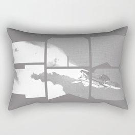 ROCKIT (White on Grey) Rectangular Pillow