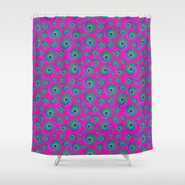 Retro Spiral Effect Shower Curtain