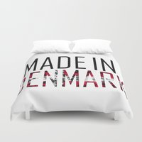 denmark Duvet Covers featuring Made In Denmark by VirgoSpice