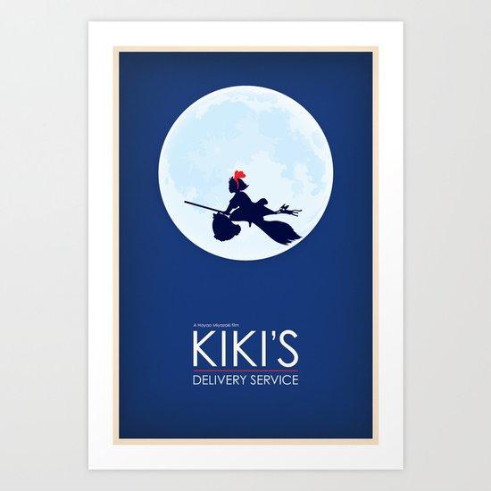 Kiki's Delivery Service Poster Art Print
