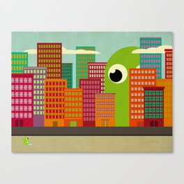 Lost in the City Canvas Print