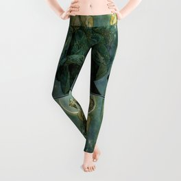 "Alphonse Mucha ""The Moon and the Stars Series: The Moon"" Leggings"