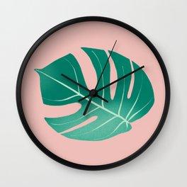 Monstera Leaf Artwork Wall Clock